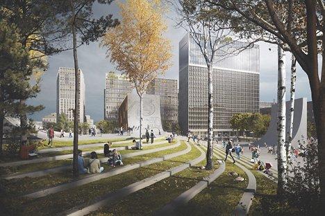 Plan- og designkonkurranse for nytt regjeringskvartal.